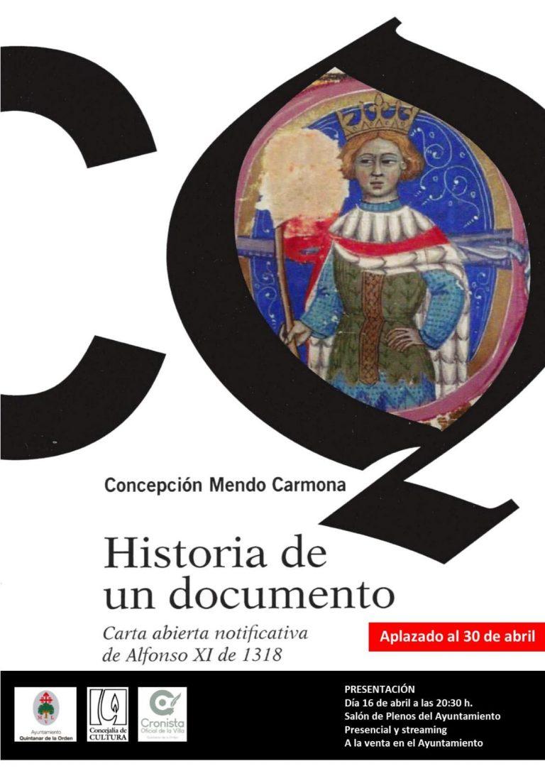 """Aplazada la presentación de la publicación """"Historia de un documento"""""""