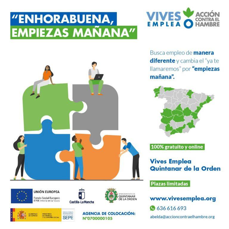 Quintanar de la Ordensigue apostando por la inclusión sociolaboral con una edición más de Vives Emplea