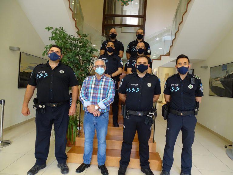 Quintanar incorpora a los cuatro nuevos Policías que formarán parte de su plantilla